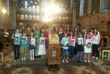 """Participanţii la concursul județean """"Bucuria Învierii în sufletul copilului"""", premiaţi la Protopopiatul Bistrița"""