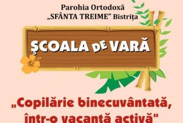 """Școala de vară la Biserica Ortodoxă """"Sfânta Treime"""" din Bistrița"""