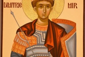 Agenda Ierarhilor din Mitropolia Clujului de praznicul Sfântului Dimitrie, Izvorâtorul de Mir