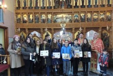 """Tinerii olimpici sărbătoriți la Biserica """"Nașterea Domnului"""""""