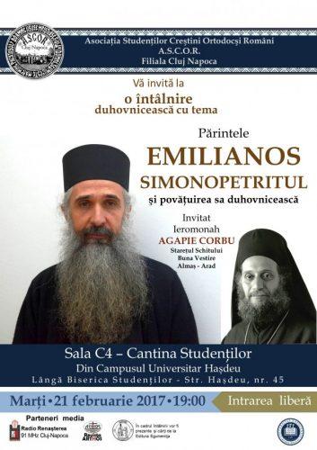 Pr. Emilianos Simonopetritul şi povăţuirea sa duhovnicească - Conferinţă A.S.C.O.R. Cluj
