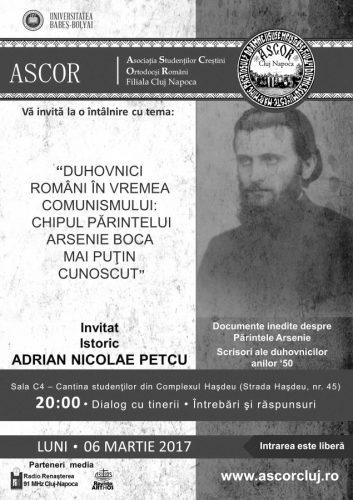 Chipul Pr. Arsenie Boca mai puţin cunoscut – istoricul ADRIAN NICOLAE PETCU
