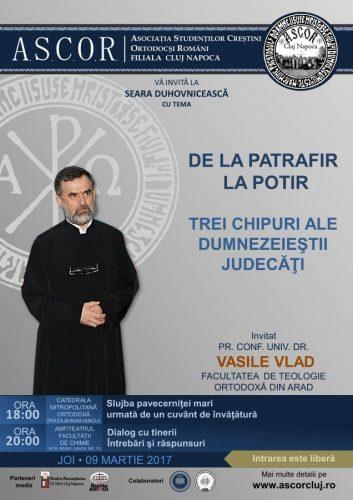 Seară duhovnicească A.S.C.O.R. Cluj - Pr. Conf. Univ. Dr. Vasile Vlad