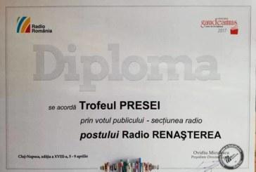 Radio Renașterea a primit Trofeul PRESEI la secțiunea Radio a Târgului de Carte GAUDEAMUS