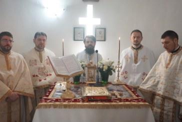 Protos. Benedict Vesa, la hramul Parohiei Sf. Ap. și Ev. Marcu, din Florești