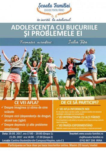 """Proiectul ȘCOALA FAMILIEI - """"Adolescenţa cu bucuriile şi problemele ei"""" şi """"Gestionarea problemelor în familie"""""""
