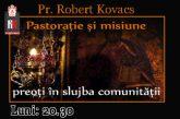 <span style='color:#B00000  ;font-size:14px;'>Pastorație și misiune. Preoți în slujba comunității.</span> <br> Părintele Robert Kovacs în dialog cu părintele Iuliu Gorea P1</p>