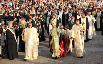 Tradiționala procesiune de Rusalii, la Cluj-Napoca