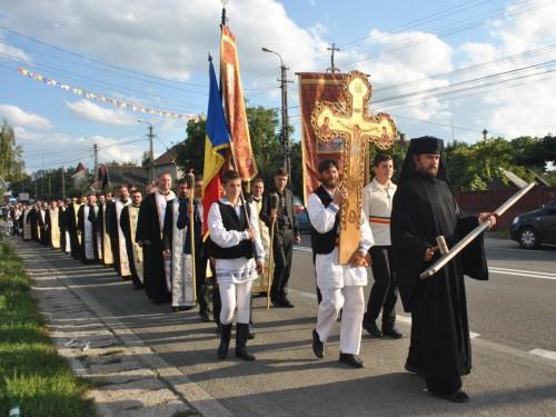 Protopopul Aurel Munteanu, comemorat de credincioșii din Huedin