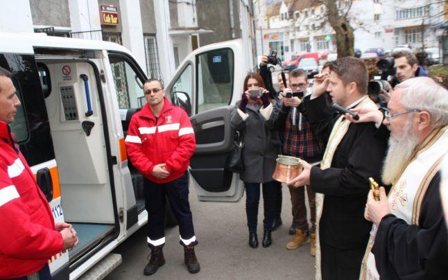 Primul Serviciu de Ambulanță din Patriarhia Română, inaugurat la Bistrița