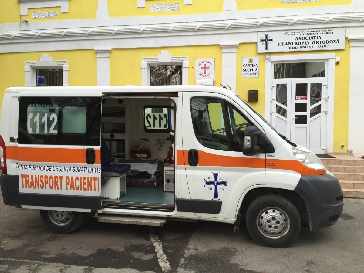 "Serviciul de ambulanță ""Filantropia Ortodoxă"", inaugurat la Bistrița"