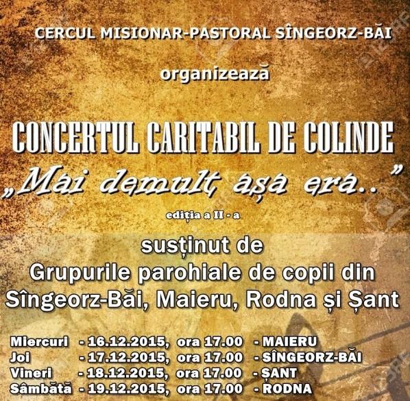 """Concert caritabil """"Mai demult așa era.."""" în Cercul misionar-pastoral Sîngeorz-Băi"""