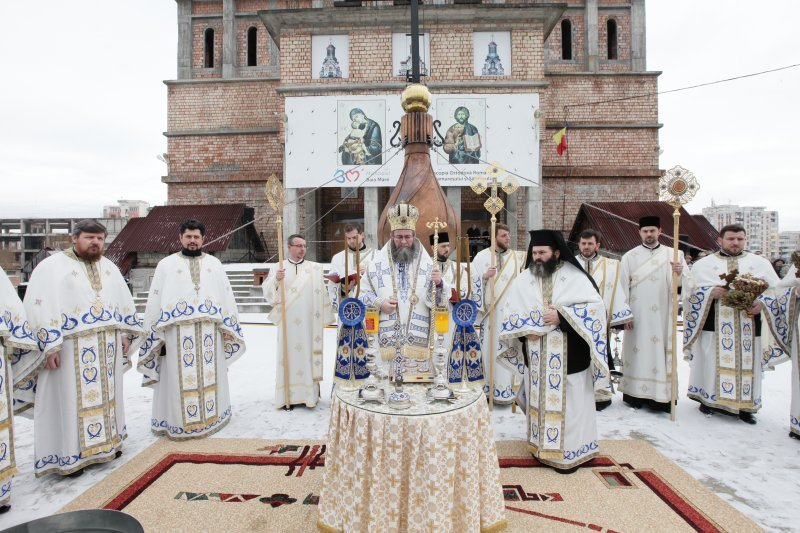 Sfinţirea Aghiasmei Mari la Catedrala Episcopală din Baia Mare