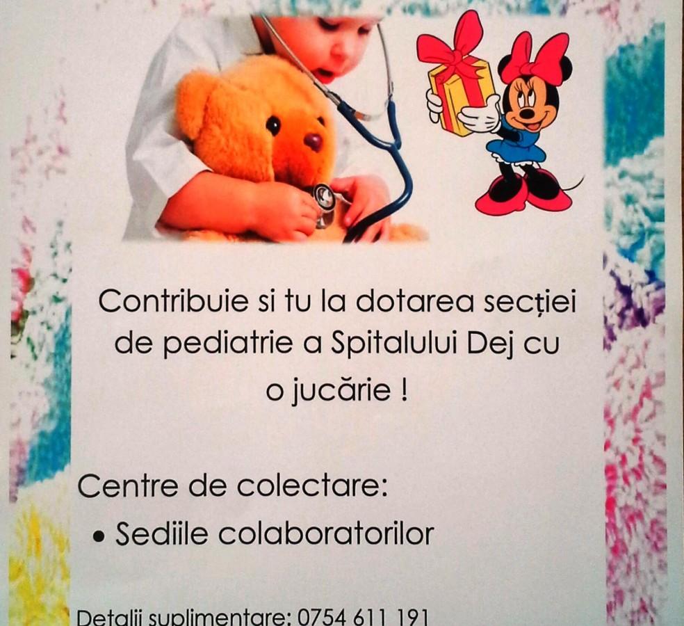 """Campania ,,Fă o bucurie cu o jucărie"""", la Dej"""