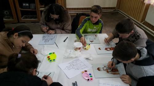 Atelier de pictură pentru copii și tineri în parohia ortodoxă Ciceu Giurgești