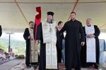 Preasfinţitul Iustin Sigheteanul a pus piatra de temelie pentru o nouă biserică în Tăuţii de Jos