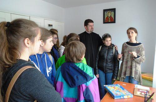 Sfântul Onufrie, cinstit de elevii clujeni printr-un pelerinaj la mănăstire