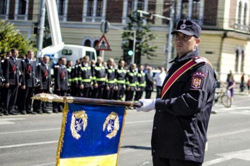 Aniversarea a 80 de ani de atestare documentară a pompierilor militari din Cluj