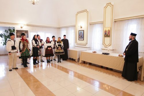 Colindători la Centrul Eparhial al Episcopiei Maramureşului