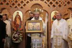 Preasfinţitul Părinte Episcop Iustin în soborul de Mănăstirea Scărişoara Nouă