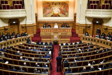Ședința Adunării Naționale Bisericești, la final
