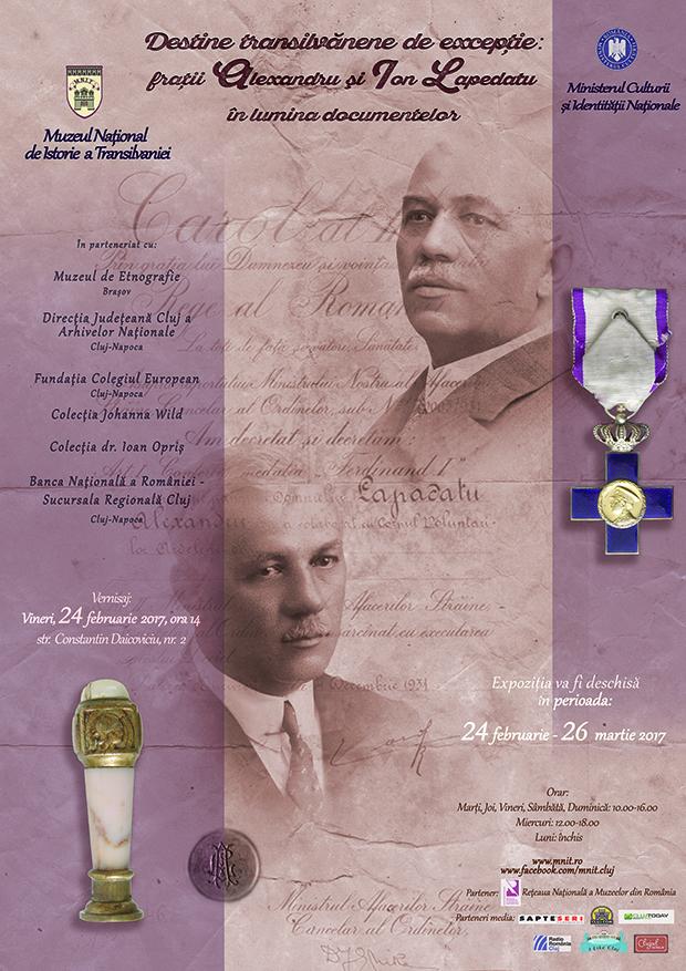 Expoziţie dedicată fraţilor Lapedatu, la Muzeul de Istorie a Transilvaniei