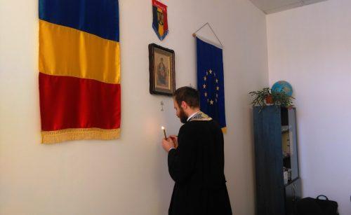 Slujbă de binecuvântare a școlii din Corvinești, în prima săptămână din Postul Mare