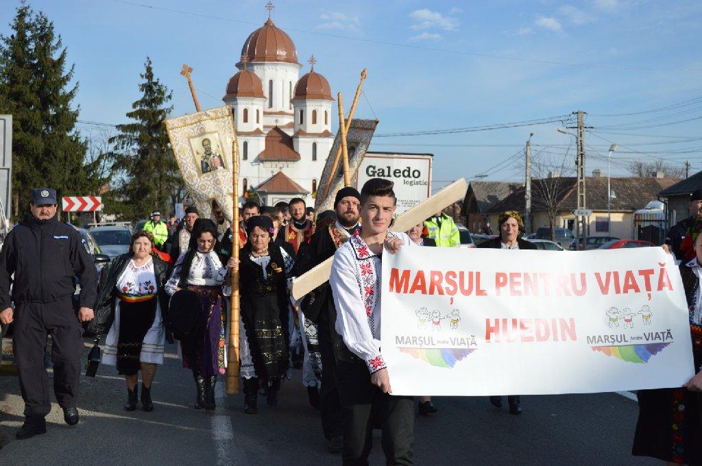 Marșul pentru Viață, organizat de Buna Vestire și în orașul Huedin