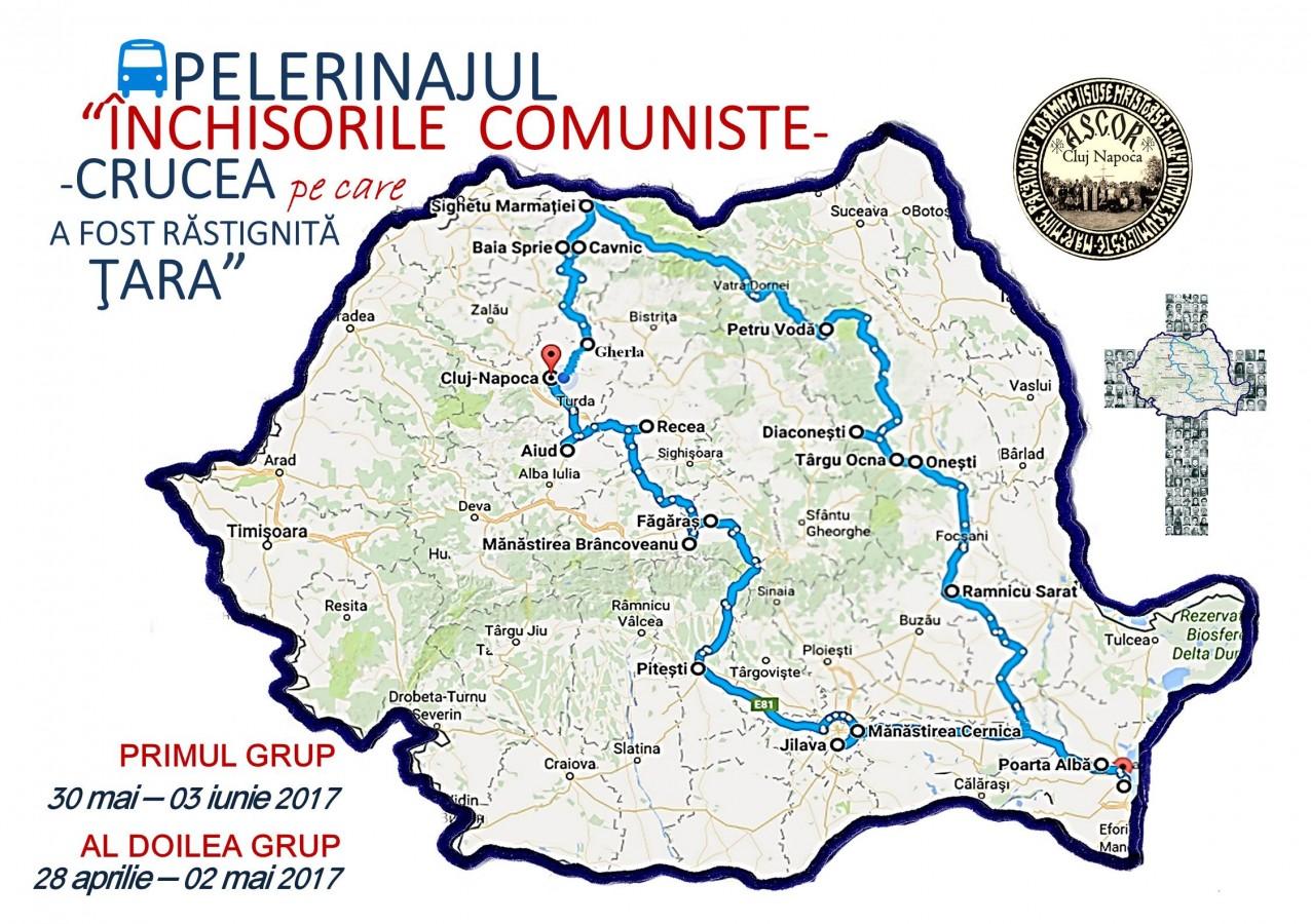 """Pelerinajul """"ÎNCHISORILE COMUNISTE. CRUCEA PE CARE A FOST RĂSTIGNITĂ ŢARA""""- turul al II-lea"""