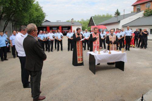 Sfințire de troiță la Detașamentul de Pompieri Huedin