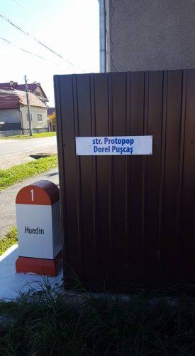 Stradă dedicată protopopului Dorel Pușcaș, în Huedin