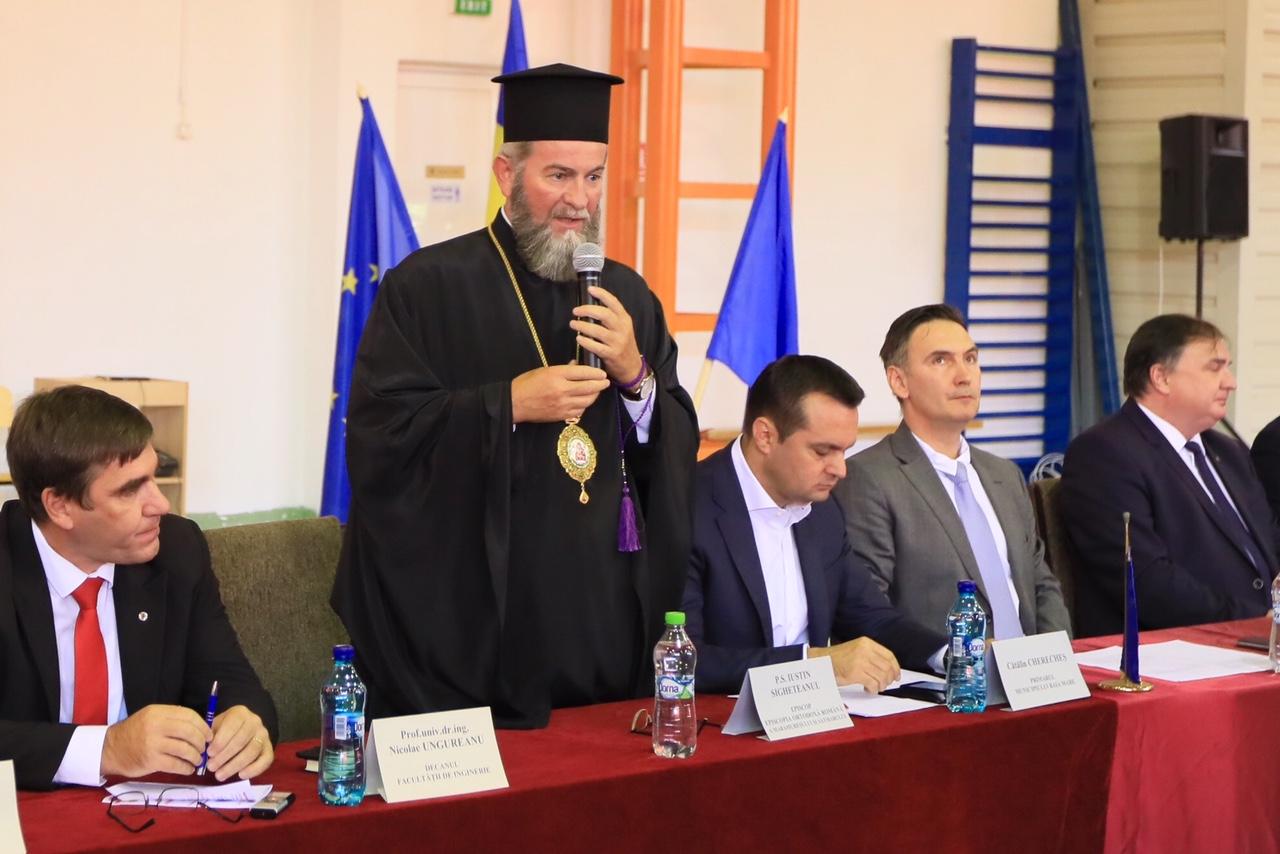 """PS Justin, la deschiderea anului universitar din Baia Mare: """"Păstrați-vă valorile creştine şi purtați de grijă faţă de viitorul ţării"""""""