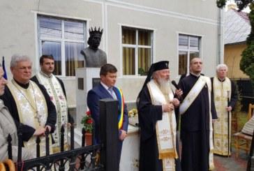 Bust al Voievodului Petru Rareș, sfințit de Mitropolitul Clujului la Ciceu-Giurgești