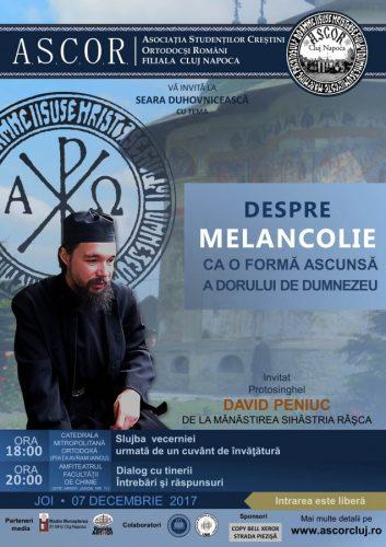 A patra seară duhovnicească A.S.C.O.R. Cluj– Protosinghel David Peniuc