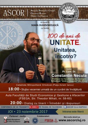 A doua seară duhovnicească A.S.C.O.R. Cluj