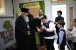 Mitropolitul Andrei al Clujului în vizită la clasele primare și gimnaziale ale Seminarului Teologic Ortodox.
