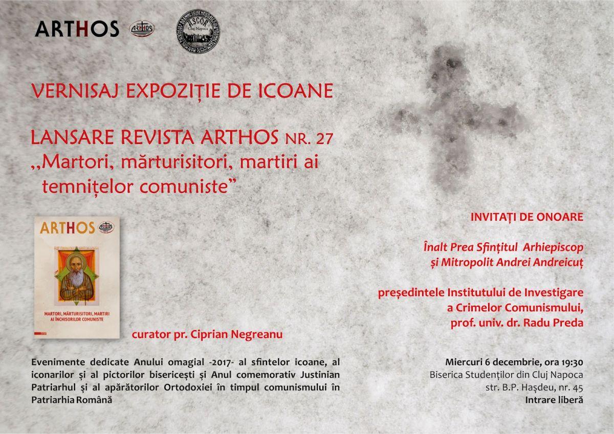 """Expoziţie de icoane cu tema """"Martori, mărturisitori, martiri ai temniţelor comuniste"""""""