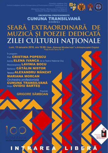 Seară extraordinară de muzică și poezie, dedicată Zilei Culturii Naționale