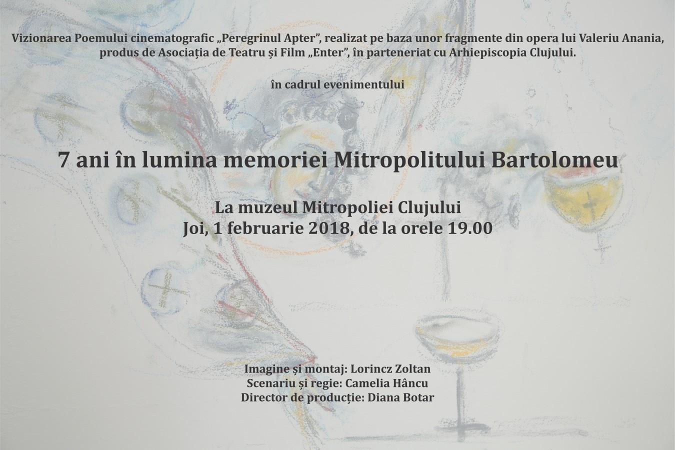 Comemorarea Mitropolitului Bartolomeu, la 7 ani de la plecarea în veșnicie