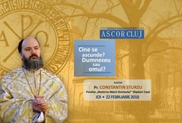 Seară duhovnicească organizată de A.S.C.O.R. Cluj – Pr. Constantin Sturzu