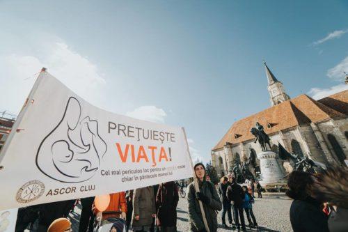 """Marșul """"O lume pentru viață"""", la Cluj-Napoca"""