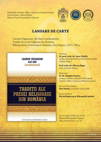 Volumul Tradiţii ale presei religioase din România va fi lansat la Cluj-Napoca