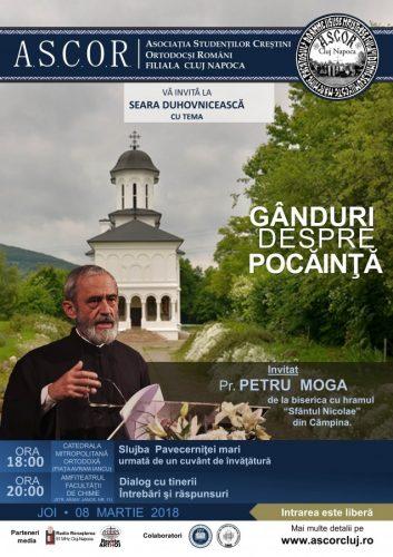 Seară duhovnicească A.S.C.O.R. Cluj – Pr. Petru Moga