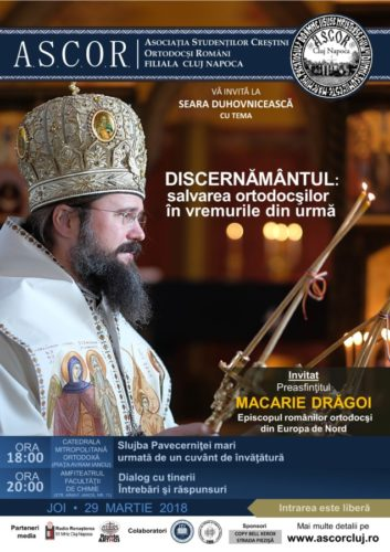 Seară duhovnicească A.S.C.O.R. Cluj - Invitat: Preasfinţitul Macarie