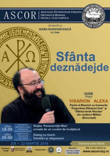 A cincea seară duhovnicească A.S.C.O.R. Cluj - Invitat: Pr. Visarion Alexa