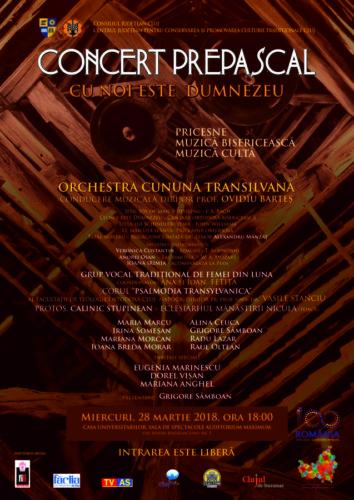 """""""Cu noi este Dumnezeu"""" - Concert de pricesne, muzică bisericească şi cultă"""