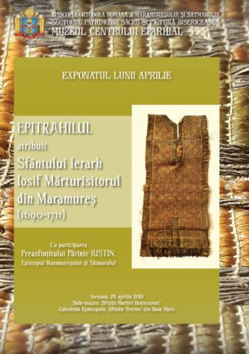 Epitrahilul Sfântului Iosif Mărturisitorul, expus în Muzeul Episcopiei Maramureşului şi Sătmarului