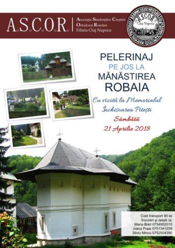 Tinerii din ASCOR Cluj în pelerinaj pe jos la Măn. Robaia şi la Memorialul Închisoarea Piteşti