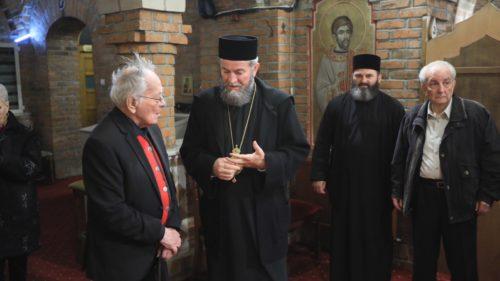 """Nicolae Noica şi Mihai Şora - oaspeţi ai Catedralei Episcopale """"Sfânta Treime"""" din Baia Mare"""