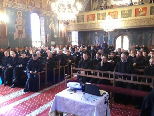 Preoții Protopopiatului Cluj I, întruniți în ședință, în Parohia Ortodoxă Baciu